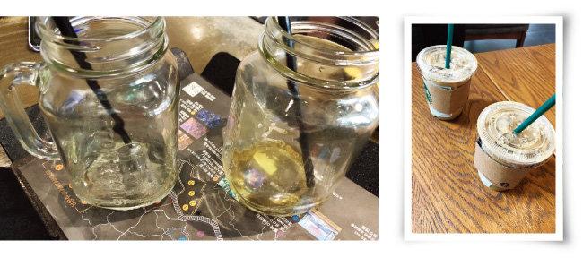 매장 내 다회용컵 사용을 철저히 지키는 곳이 있는 반면, 점심시간에 손님이 몰려든다는 이유로 일회용컵을 제공하는 매장도 있었다. [정혜연 기자]