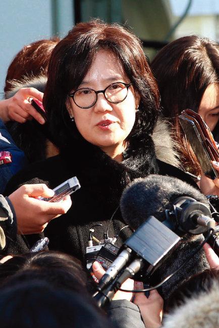 2017년 1심 무죄판결을 받은 직후 박유하 교수. [동아DB]