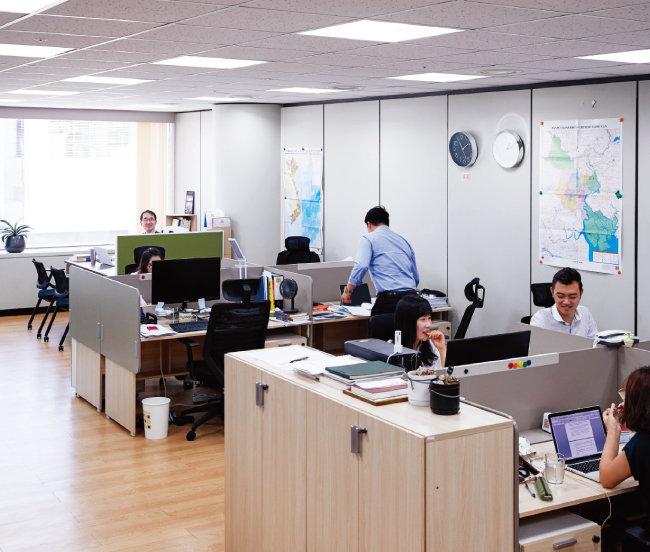 서울 삼성동 공항터미널에 위치한 그린에그 사무실. [홍중식 기자]