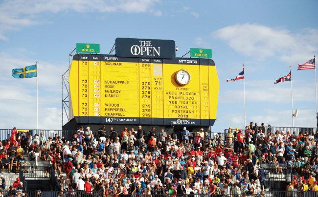 7월 22일(현지시각) 영국 스코틀랜드 카누스티 골프링크스에서 열린 디오픈. 이탈리아의 프란체스코 몰리나리가 우승했다. [AP=뉴시스]