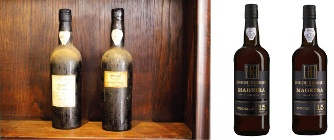 숙성 잠재력이 좋아 100년 이상 버틴 마데이라 와인. 엔리크 앤 엔리크 베르델류 15년산과 엔리크 앤 엔리크 세르시알 15년산(왼쪽부터). [사진 제공 · ㈜아베크와인]