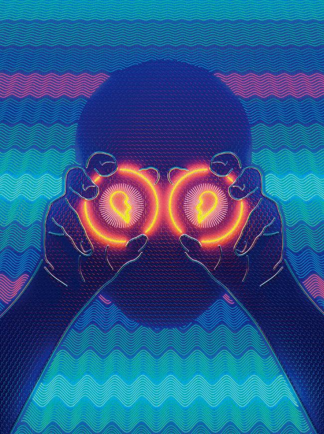 고구마 '이별이 보기 싫어 가출한 눈', 디지털 프린트, 65.1×65.1cm