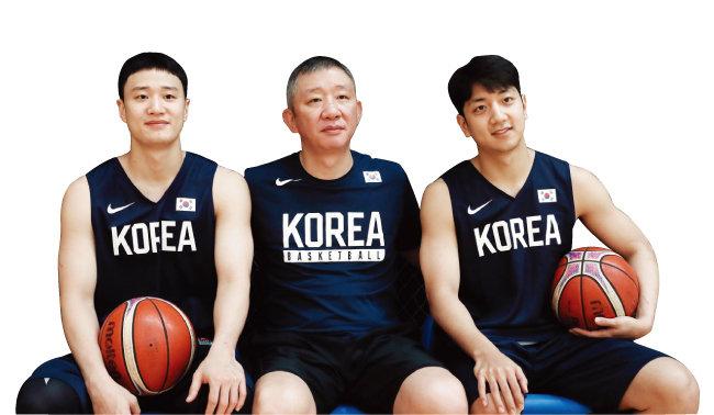 '농구천재' 허재(가운데)와 허웅(왼쪽)-허훈 형제. [동아DB]