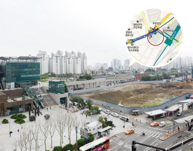 서울 동대문구 청량리역 인근 집창촌이던 청량리4구역은 현재 터파기 공사가 한창이다. 5년 뒤 주거복합단지인 '청량리 롯데캐슬 SKY-L65'가 들어설 예정이다.