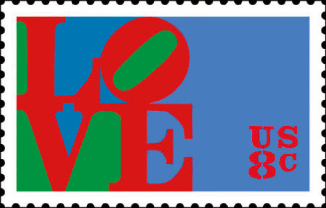 인디애나의 '러브' 이미지를 사용한 미국 우표. 1973년 발행됐다. [위키피디아]