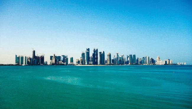 카타르 수도 도하에 즐비한 고층빌딩들. [위키피디아]