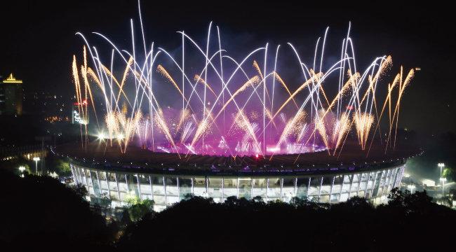 9월 2일 열린 2018 자카르타-팔렘방 아시아경기 폐회식. [뉴시스]