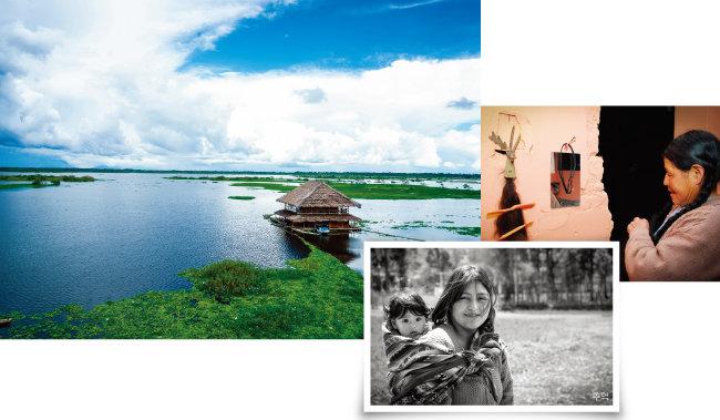 페루 로레토주 이키토스에 있는 수상 가옥, 추억, 땋은 머리(왼쪽부터)