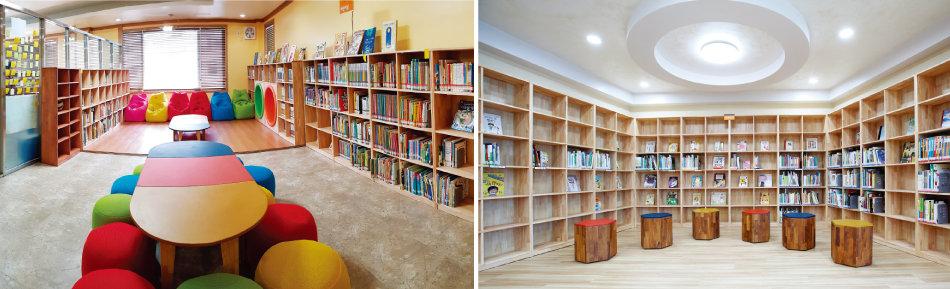 KB국민은행 지원으로 조성된 작은 도서관들. [사진 제공 · KB국민은행]