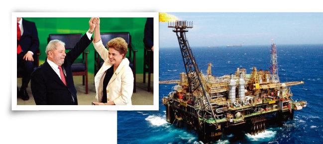감옥에 수감된 룰라(왼쪽)와 탄핵된 지우마 호세프 전 브라질 대통령(위). 브라질 상투스만 해저 유전에서 원유를 추출하는 해상 기지의 모습. [사진 제공 · Agencia Brazil, 페트로브라스]
