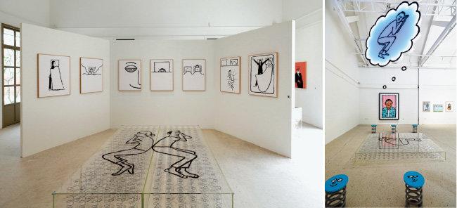 라운지에서 10월 말까지 열리는 프랑스 비주얼 아티스트 장 줄리앙의 전시.