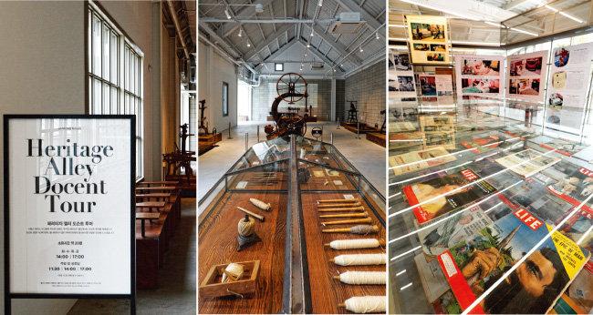 헤리티지 앨리에서는 시몬스의 오랜 역사가 담긴 침구와 소품, 광고와 잡지 등을 만날 수 있다. 무료로 도슨트 투어에 참여할 수 있다.