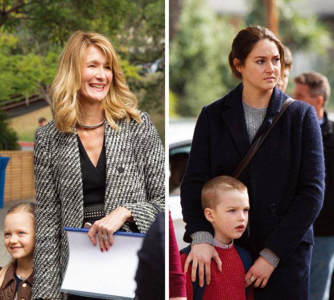 미국 HBO 드라마 '빅 리틀 라이즈'에서 성공한 워킹맘으로 나오는 레나타(왼쪽)와 가난한 젊은 엄마 제인. [사진 출처 · HBO]