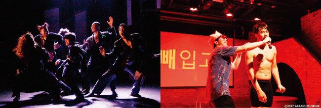 김정 연출가의 작품들. 왼쪽부터 '손님들'과 '임영준 햄릿'. [사진 제공 · 프로젝트 내친김에]