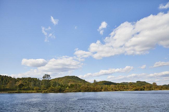 10월의 어느 멋진 날, 백마강으로 흘러드는 가을