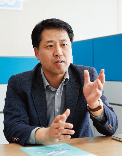 경북테크노파크 오픈랩설립추진TF팀 팀장인 송민석 박사. [홍중식 기자]