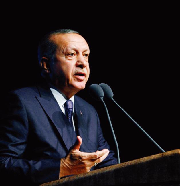 레제프 타이이프 에르도안 터키 대통령이 사우디아라비아 정부 측에 카슈끄지 살해사건의 진상 규명을 요구하고 있다. [터키 대통령궁 홈페이지]