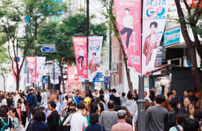 올해 9월 한국 쇼핑 행사 때 명동 거리 모습. [동아DB]