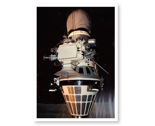 1966년 2월 3일 세계 최초로 달 착륙에 성공한 옛소련의 루나 9호 모형. [위키피디아]