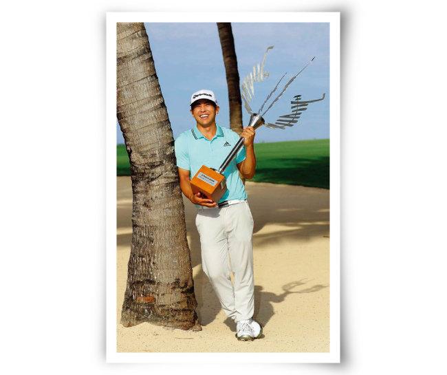 2019 아프라시아 뱅크 모리셔스 오픈 우승자인 커트 기타야마. [사진 제공 · 김맹녕]