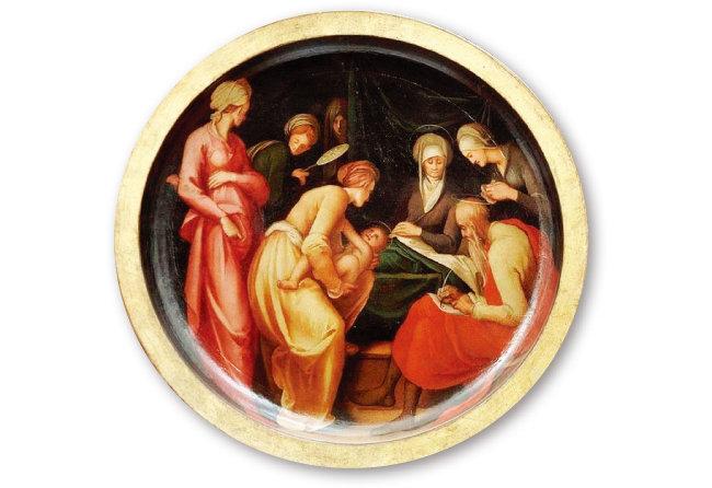 이탈리아 화가 폰토르모의 '세례자 요한의 탄생(1526)'. 누가복음서에 따르면 세례자 요한은 예수보다 6개월 앞서 태어났다. [위키미디어]