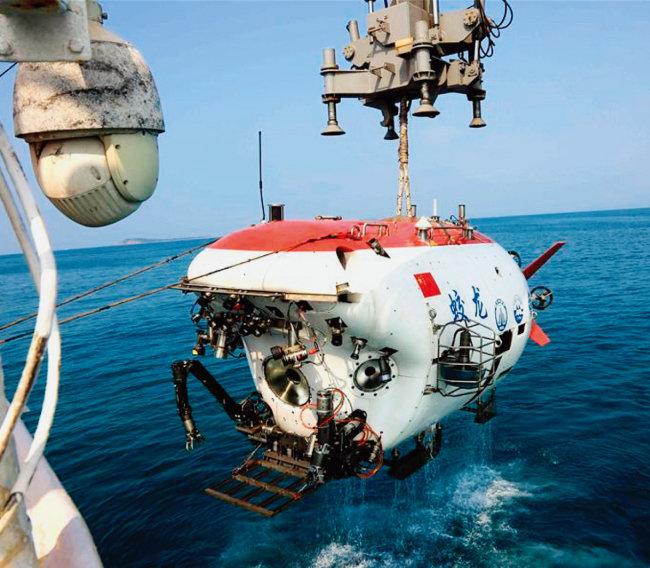 중국의 심해 유인잠수정 자오룽호. [차이나 데일리]