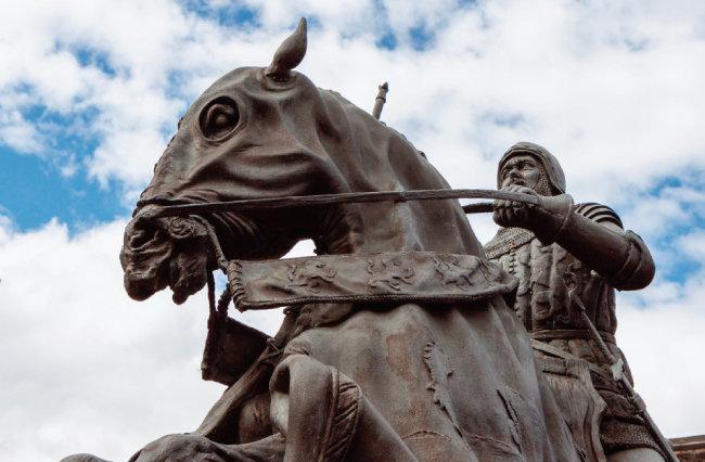 14세기 영국의 전쟁영웅 헨리 홋스퍼 퍼시의 동상. [shutterstock]