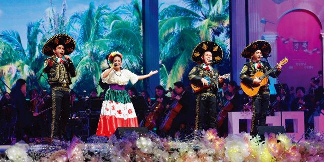 카리브해의 경쾌한 선율을 보여주는 멕시코팀.