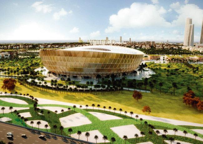 2022 카타르 월드컵에서 개막전과 결승전이 열리게 될 루세일 경기장의 조감도. [ '더 페닌슐라 카타르']