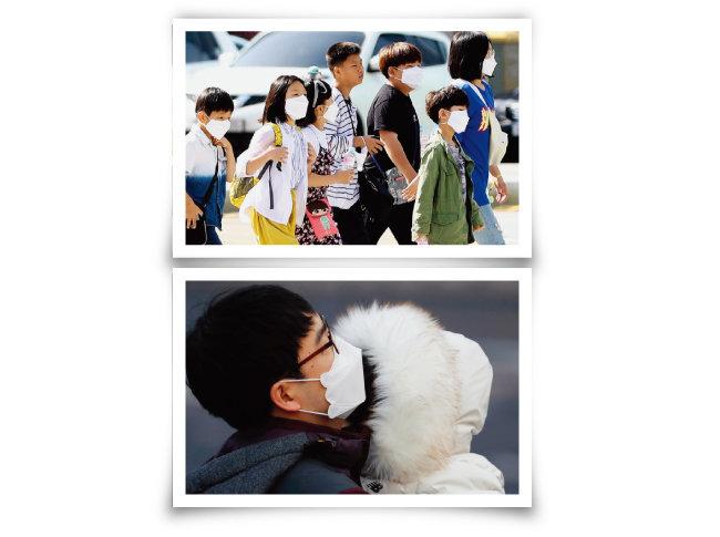 미세먼지 농도가 '나쁨' 수준을 보이면 어린이부터 어른까지 마스크를 쓰고 외출하는 것이 이제는 일상이 됐다. [뉴시스]