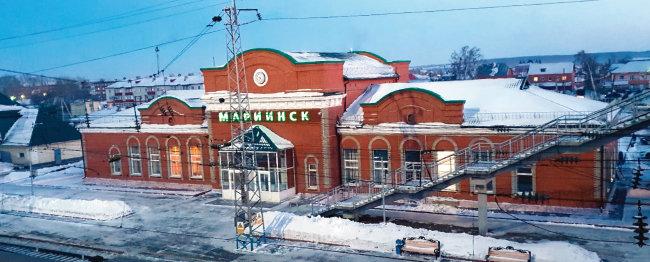 매서운 시베리아 추위를 온몸으로 체험할 수 있었던 마린스키역. 모스크바와 블라디보스토크 중간쯤에 위치해 있다.