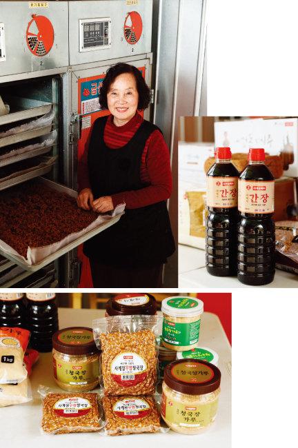 '사계절메주'에서 판매하는 제품은 영동메주, 알갱이메주, 재래식 된장, 청국장, 청국장가루 등 총 9가지다.