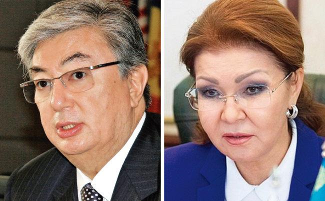 카심조마르트 토카예프 카자흐스탄 임시대통령(왼쪽)과 다리가 나자르바예바 카자흐스탄 상원의장. [위키피디아, 카자흐스탄 정부]