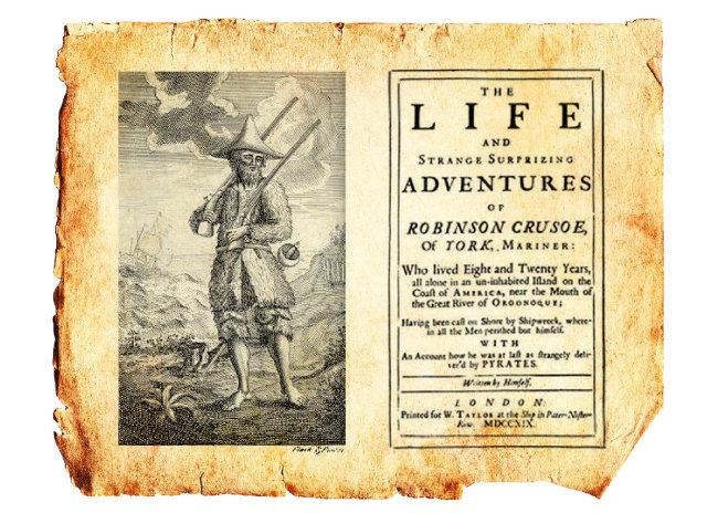 1719년 출간된 '로빈슨 크루소'  초판본. [위키피디아]