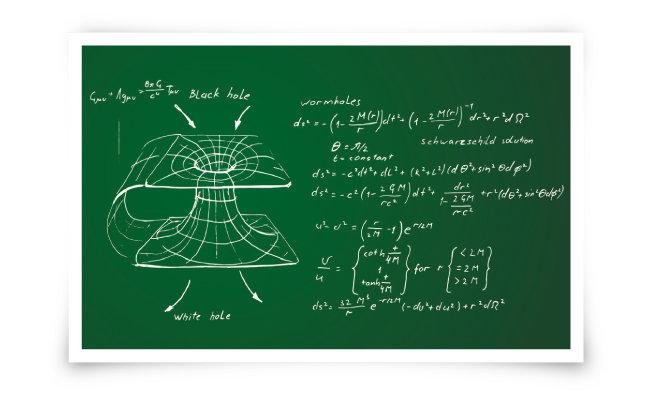 블랙홀 이론을 설명하는 도식. [shutterstock]