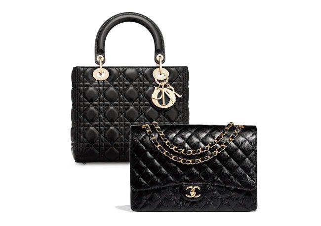 명품 브랜드 인기 가방의 경우 짝퉁 제품이 꾸준히 생산되고 있다. 530만 원짜리 크리스챤디올의 레이디 디올 핸드백(왼쪽)과 787만 원짜리 샤넬 라지 클래식 핸드백. [크리스챤 디올 홈페이지 캡처, 샤넬 홈페이지 캡처]