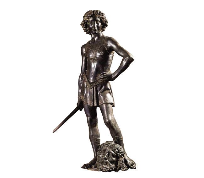 레오나르도 다 빈치의 스승인 안드레아 델 베로키오의 '다비드'. 열네 살 무렵의 레오나르도를 모델로 삼았을 개연성이 크다. [브리태니카]