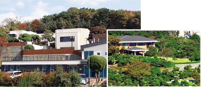 서울 한남동 대법원장 공관(왼쪽)과 부산 남천동 부산시장 관사. [SBS 비디오머그, 동아DB]