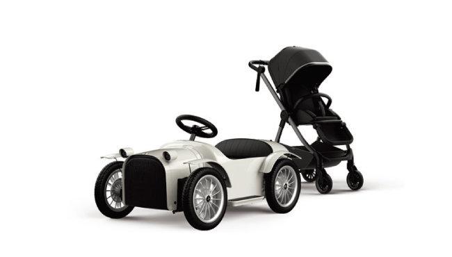 오는 8월 출시하는 전동차 모델 '디트로네M'과 유모차 '디트로네i'. [사진 제공 · 디트로네]