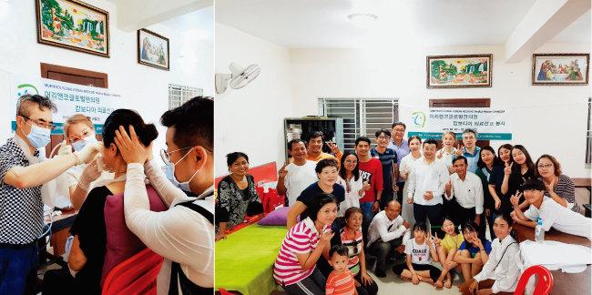 이태훈 원장의 캄보디아 의료 선교 활동 모습. [사진 제공 · 이태훈]