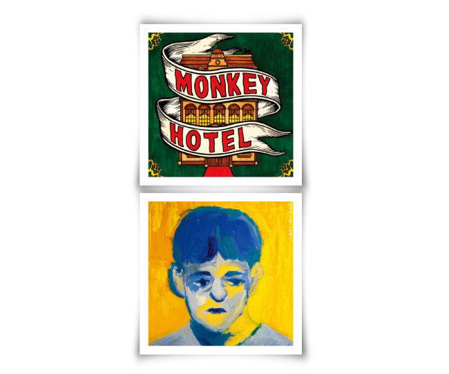 잔나비 1집 'Monkey Hotel'(위)과  2집 '전설'.