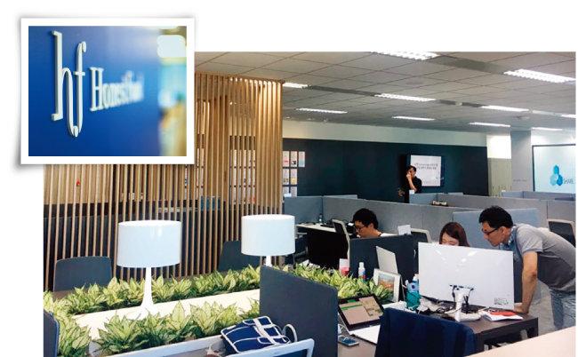 서울 중구 신한L타워에 위치한 신한퓨쳐스랩(아래)과 신한퓨쳐스랩 동문기업으로 신한은행으로부터 직접투자를 받은 P2P 금융업체 '어니스트펀드'. [사진 제공 · 어니스트펀드, 사진 제공 · 신한퓨쳐스랩]