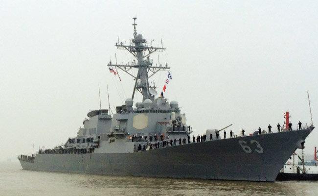 파라셀 군도의 트리톤섬(중국명 중젠다오) 12해리 내에서 항행의 자유 작전을 수행한 것으로 알려진 미 해군 스테텀함. [뉴시스]