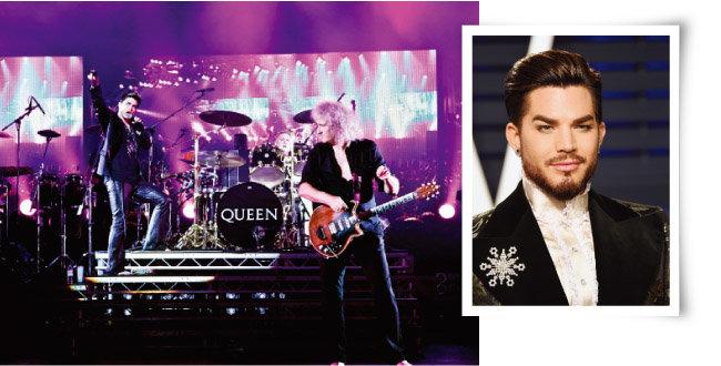 2014년 내한공연 당시의 퀸과 애덤 램버트(오른쪽). [뉴시스]