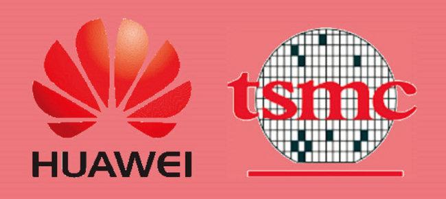 세계 최대 통신장비업체 중국 화웨이(왼쪽)와 세계 최대 파운드리업체 대만 TSMC의 로고 [Gizbot]