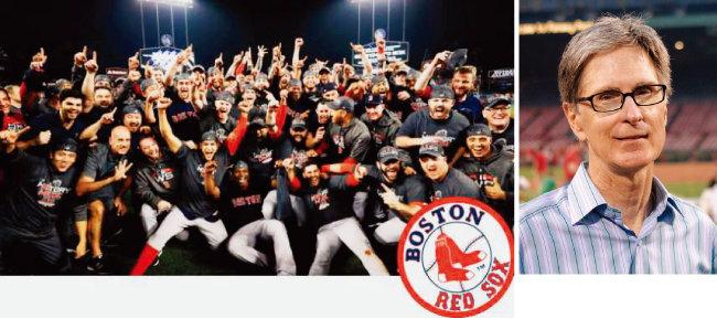 2018년 월드시리즈에서 우승한 보스턴 레드삭스(왼쪽), 리버풀FC와 보스턴 레드삭스 구단주 존 헨리. [동아DB, 위키피디아]