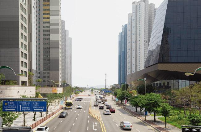 아파트 단지 사이로 GTX-A노선 '킨텍스역'이 뚫릴 예정이다. [박해윤 기자]