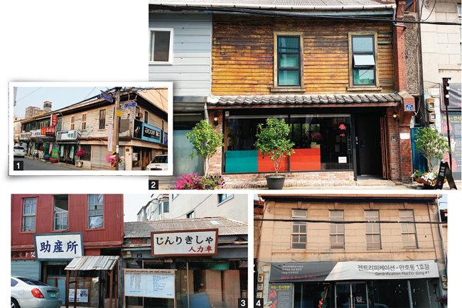 손혜원 의원 조카가 운영하는 손소영 갤러리 카페(사진2)를 중심으로 바로 옆에는 등록문화재 제718-11호(사진4), 앞에는 제718-12호(사진3), 길 건너에는 제718-13호가 포진해 있다.