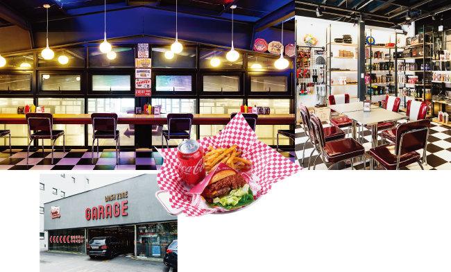 세차장 카페에는 대부분 간단한 디저트와 음료를 맛볼 수 있는 카페 공간이 마련돼 있다. 사진은 워시존 개러지 구의점. [사진 제공 · 워시존 개러지 구의점, 홍태식]