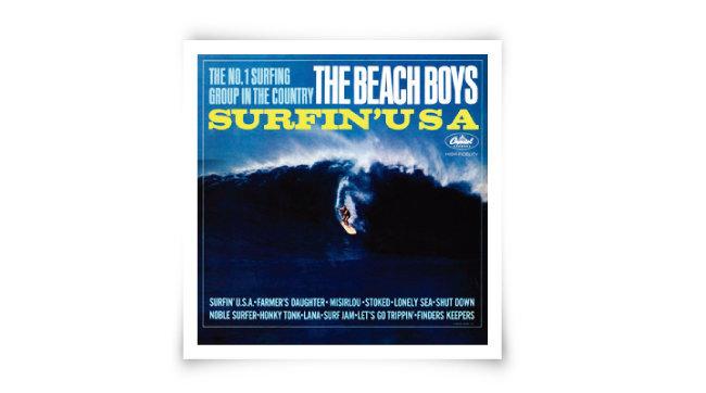 비치 보이스의 'Surfin'USA' 앨범 재킷.